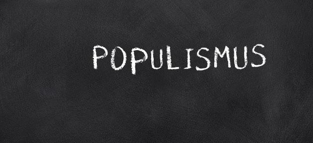 Populismus, Tafel, Kreide, Politik, Extremismus, Schule, Bildung