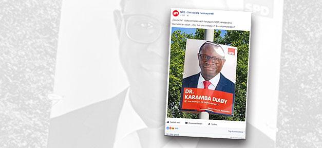 SPD, Facebook, Rassismus, Karamba Diaby, Diaby, Politiker, Strafanzeige