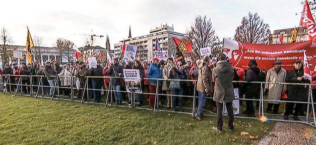 Demonstration, Proteste, Roland Koche, Hessen, Wilhelm-Leuschner-Medaille