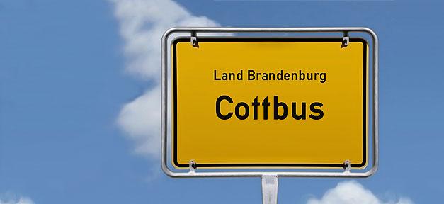 Cottbus, Stadt, Ortsschild, Brandenburg, Schild