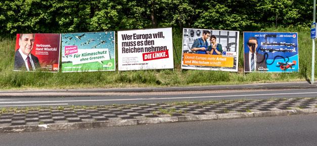 Wahlen, Bundestagswahl, Wahlplakate, FDP, SPD, CDU, Grüne, Linke