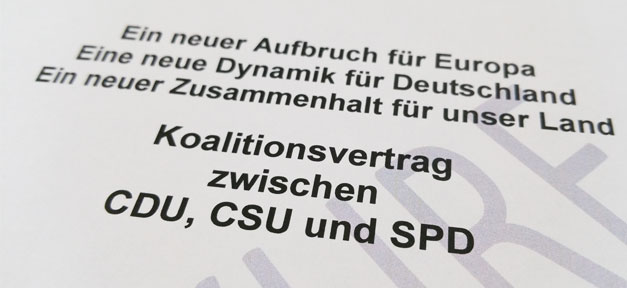 GroKo, Koalitionsvertrag, Union, SPD, CDU, CSU