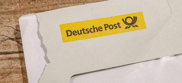 Brief, Umschlag, Post, Deutsche Post