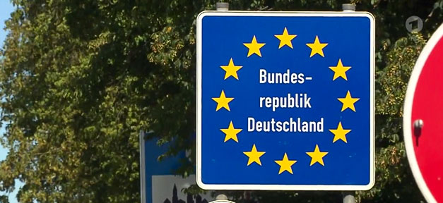 Grenze, Schild, Deutschland, BRD, Bundesrepublik, Einwanderung