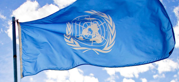 UN, Vereinte Nationen, United Nations, Fahne, Flagge