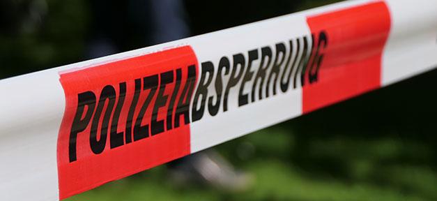 Polizei, Absperrung, Polizeiabsperrung, Unfall, Gefahr
