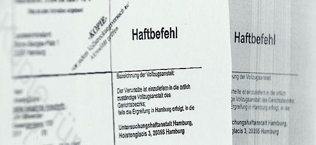 Haftbefehl, Dokument, Schreiben, Bescheid, Ordner, Polizei, Straftat