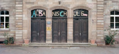 Schule, Albaner, Göttingen, Albanischule, Bücherverbrennung