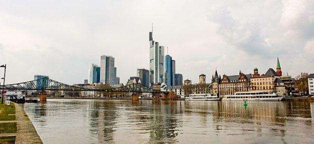 Frankfurt a.M. Stadt, Fluss, Panorama, Skyline