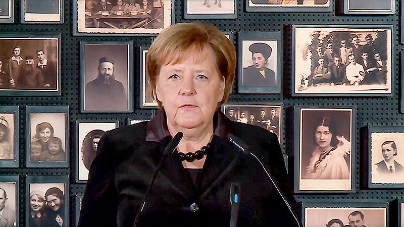 Angela Merkel, Auschwitz, Kontentrationslager, Antisemitismus, Nationalsozialismus