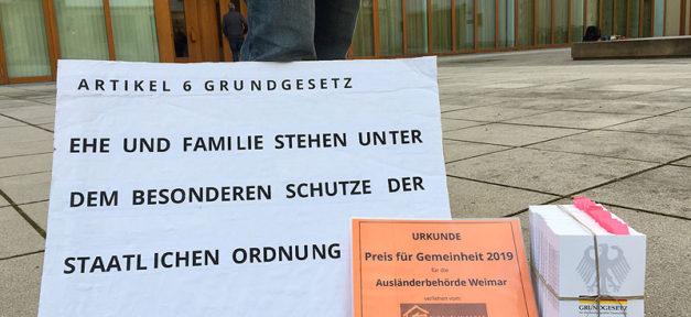 Flüchtlingsrat, Preis der Gemeinheit, Ausländerbehörde, Weimar