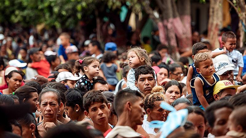 Menschen, Flüchtlinge, Flucht, Kinder, Kolumbien, Venezuela, Amerika