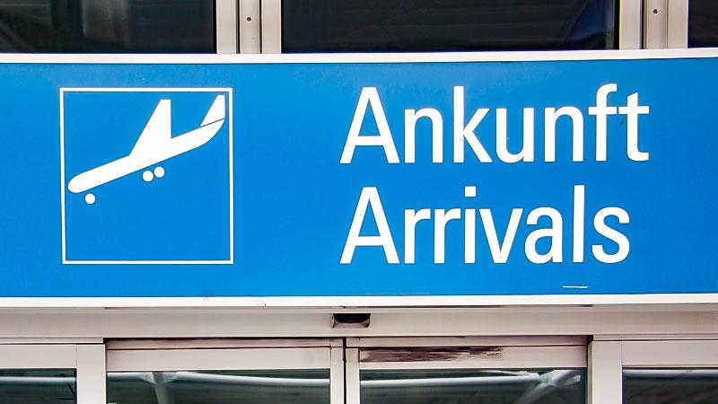 Ankunft, Flughafen, Flugzeug, Migration, Reise, Urlaub