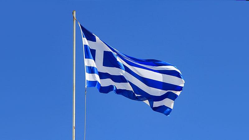 Griechenland, Flagge, Fahne, Mast, Fahnenmast, griechisch