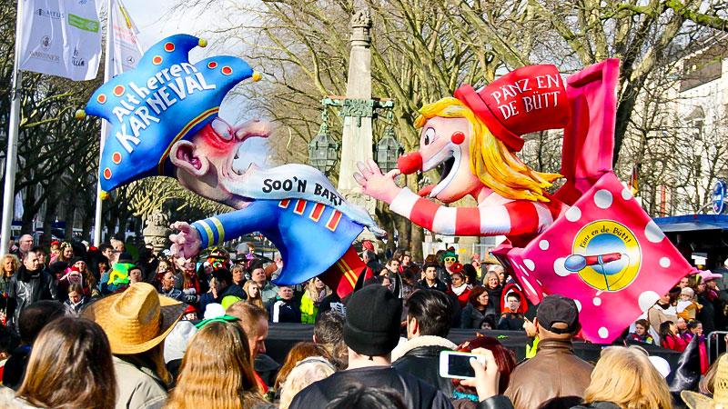 Karneval, Rosenmontag, Zug, Karnevalszug, Köln, Düsseldorf