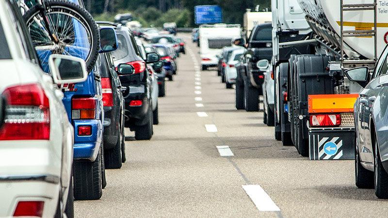 Autos, Verkehr, Stau, Autobahn, Urlaub, Reise