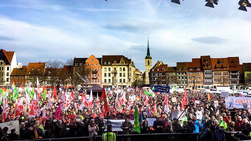 Demonstration, Demo, Menschen, Rechtsextremismus, Unteilbar, Erfurt