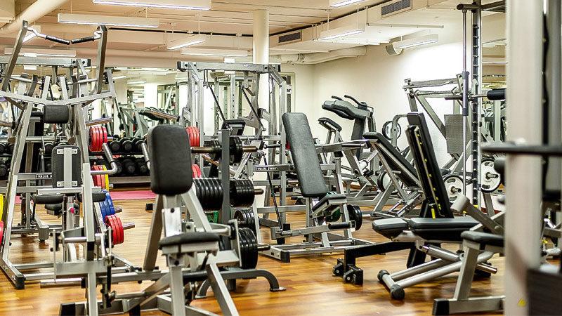 Fitnessstudio, Sport, Training, Hantel, Muskeln