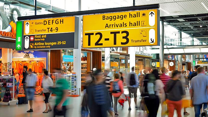 Flughafen, Menschen, Einwanderung, Migration