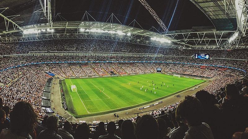 Fußball, Stadion, Sport, Fans, Zuschauer, Tribüne