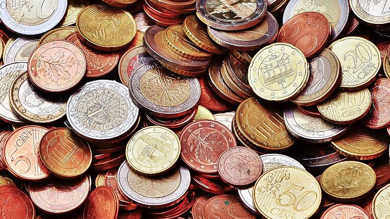Euro, Münzen, Cent, Geld, Vermögen, Sparen