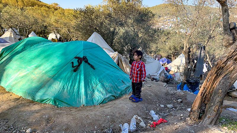 Griechenland, Flüchtlingslager, Flüchtlinge, Kind, Zelt, Unterkunft