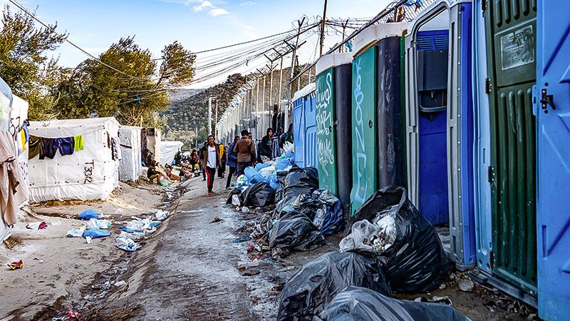 Griechenland, Flüchtlingslager, Flüchtlinge, Unterkunft, Müll, Dreck