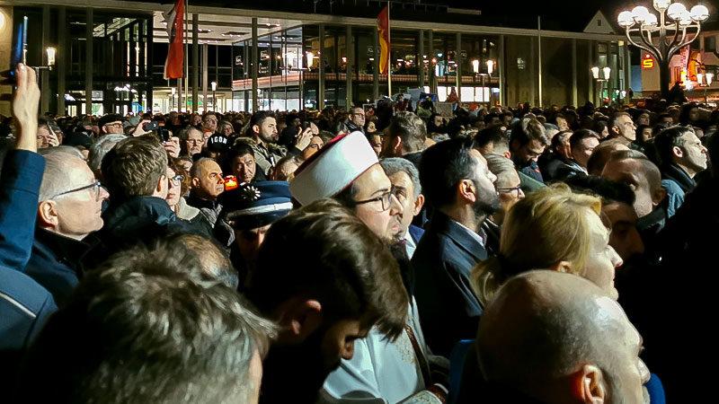 Hanau, Mahnwache, Demonstration, Rechtsterrorismus, Rechtsextremismus