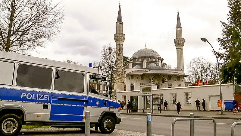 Polizei, Moschee, Wache, Sicherheit, Muslime, Islam