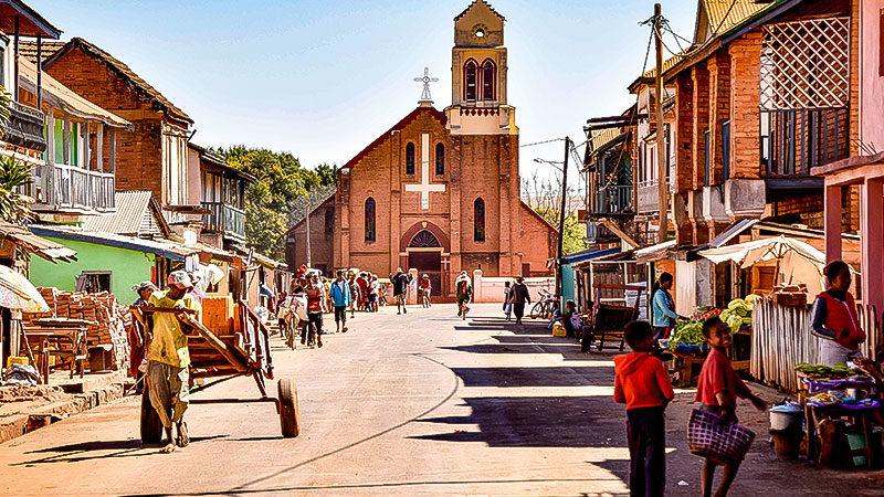 Afrika, Menschen, Straße, Stadt, Madagaskar