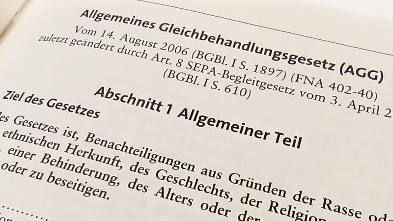 AGG, Allgemeines Gleichbehandlungsgesetz, Diskriminierung, Rassismus