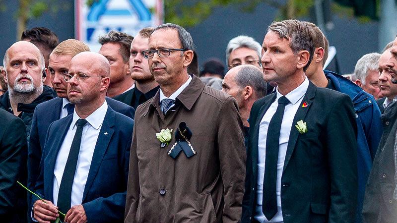 Andreas Kalbitz, Björn Höcke, AfD, Trauermarsch, Rechtsextremismus, Chemnitz, Demonstration