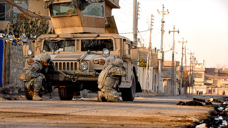Armee, Soldaten, Krieg, Waffe, Straße, Stadt