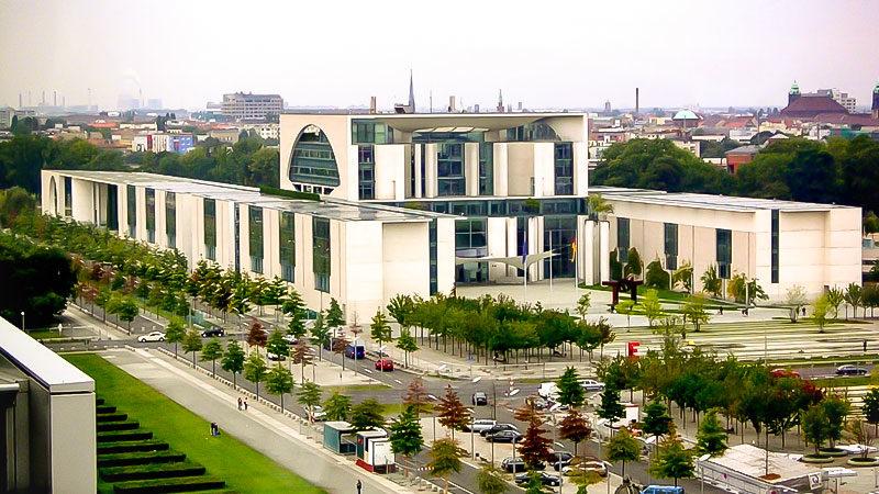 Bundeskanzleramt, Berlin, Panorama, Stadt, Politik