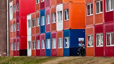 Wohnen, Container, Wohncontainer, Flüchtlinge, Unterkunft, Flüchtlingsunterkunft