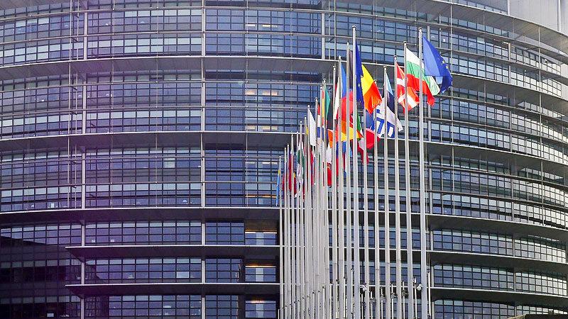Europa, Europäische Union, Flaggen, Länder, Staaten, Europaparlament