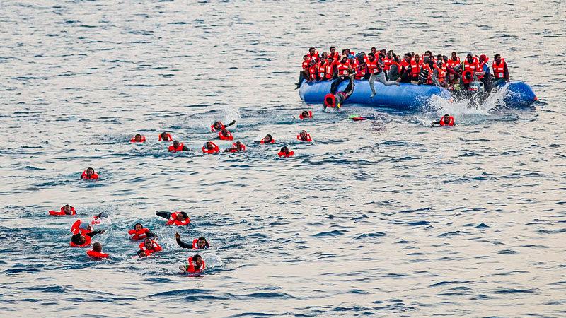 Flüchtlinge, Mittelmeer, Boot, Seenotrettung, Flüchtlingspolitik
