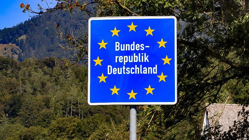 Grenze, Grenzschild, Grenzübergang, Deutschland