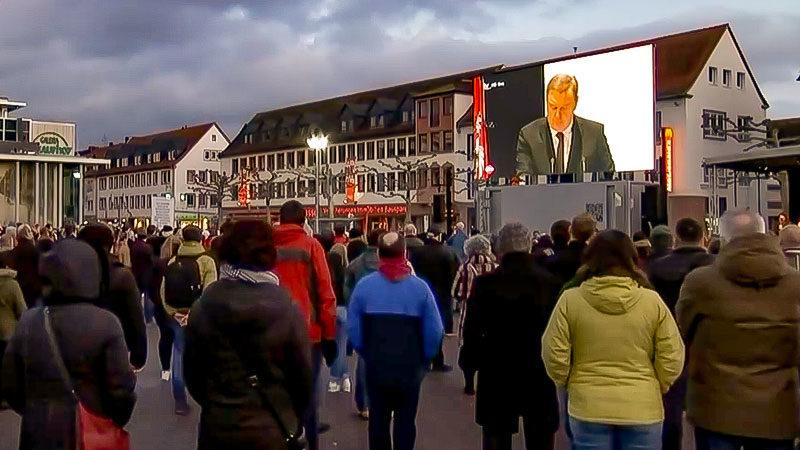 Hanau, Stadt, Menschen, Demonstration, Trauerfeier