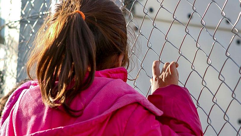 Kinder, Minderjährige, Flüchtlinge, Zaun, Flüchtlingslager