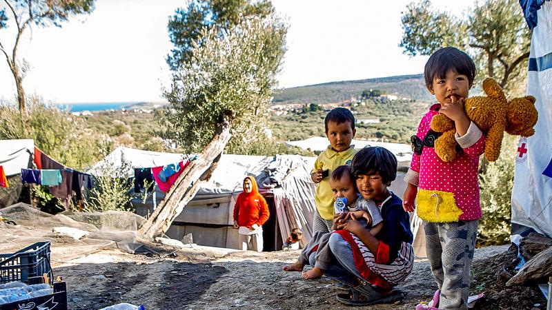 Kinder, Flüchtlinge, Flüchtlingslager, Griechenland, Lesbos