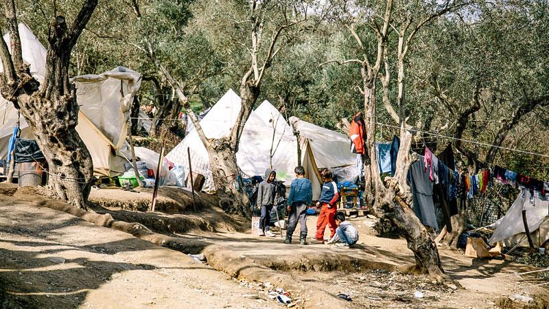 Kinder, Flüchtlinge, Lesbos, Griechenland, Flüchtlingslager