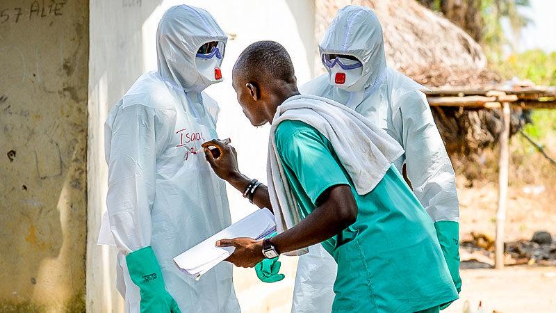 Arzt, Schutzanzug, Krankheit, Virus, Corona, Pandemie, Epidemie