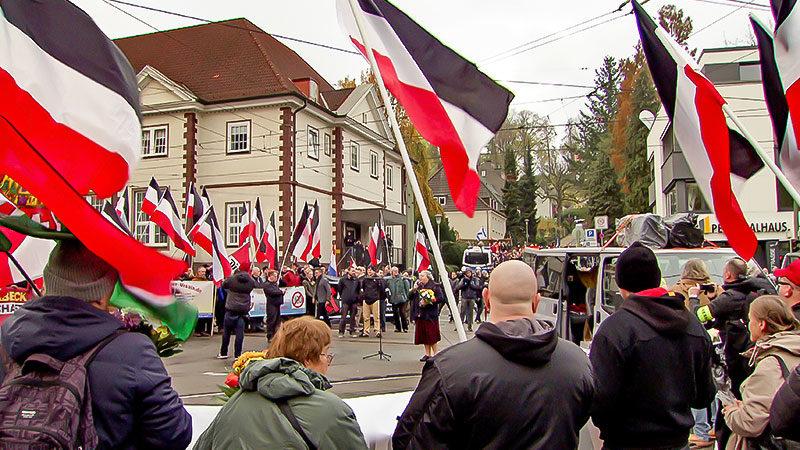 Demonstration, Rechtsextremismus, Neonazis, Nazi, Fahnen, Rechtsterrorismus