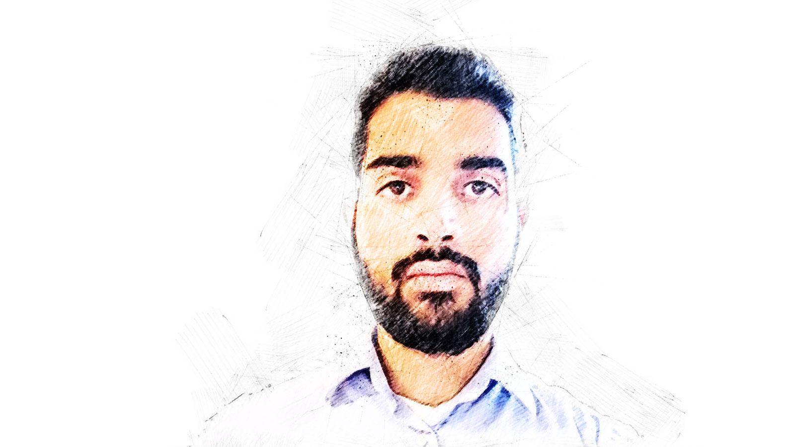 Elias Feroz, Migazin, Zeichnung, Profil, Islam, Flüchtlinge, Muslime