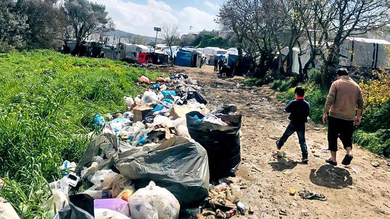 Müll, Flüchtlingslager, Flüchtlingscamp, Griechenland