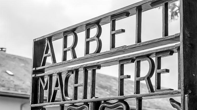 Konzentrationslager, Dachau, Arbeit macht frei, KZ, Nationalszialismus, Holocaust, Massenmord, Juden