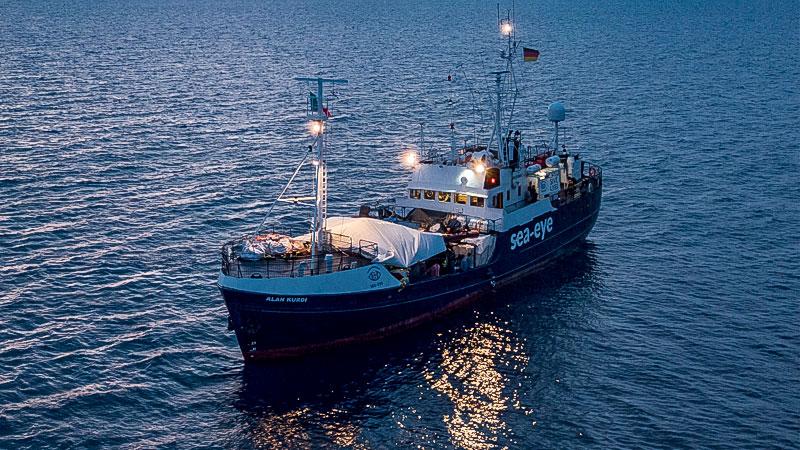 Seenotrettung, Flüchtlinge, Mittelmeer, Alan Kurdi, Sea Eye, Schiff, Boot
