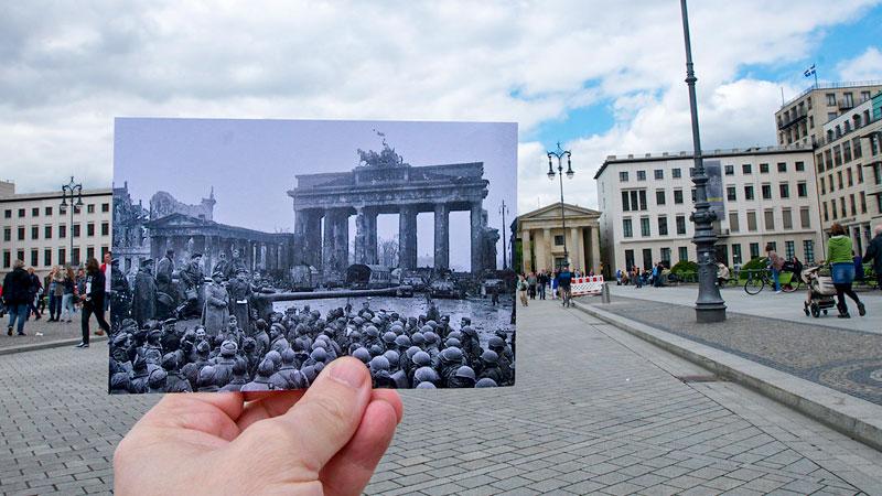 Berlin, Brandenburger Tor, Geschichte, Nationalsozialismus, Krieg