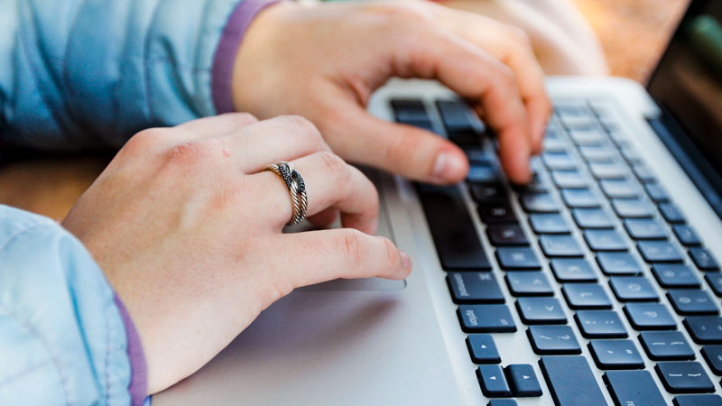 Computer, Hände, Lernen, Bildung, Studieren, Student, Laptop
